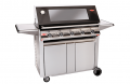 BEEFEATER SIGNATURE 5 BURNER ENAMEL BBQ WITH STAINLESS STEEL DESIGNER TROLL
