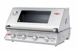 BEEFEATER SIGNATURE 4 BURNER 3000s BUILT IN BBQ WITH STAINLESS CAST PACK